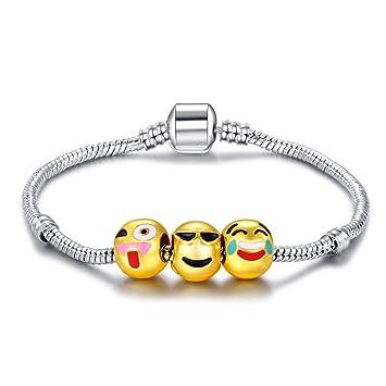 TR Fashion Customizable Emoji Charm Bracelets Jewelry Gift+ FREE EMOJI POUCH oG18ceQ0