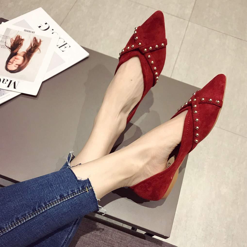 August Jim Women Flats Elegant Red