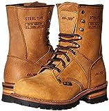Adtec Men's 9 inch Steel Toe Logger Boot, Brown, 11