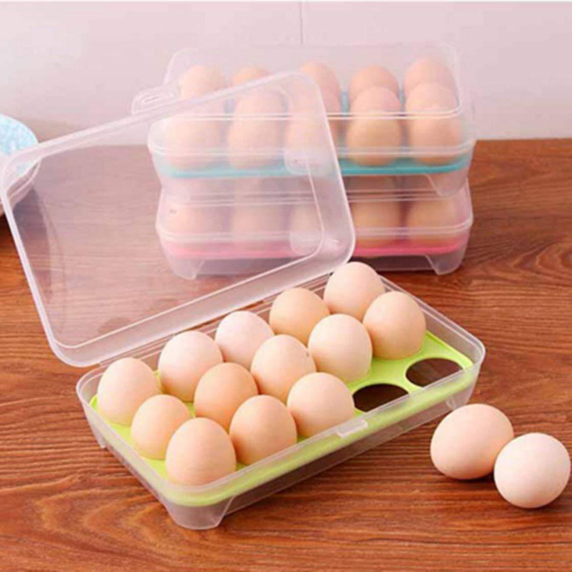 Huevos port/átiles Organizador de Rejilla Preservaci/ón Caja de Almacenamiento Refrigerador Caja n/ítida Garant/ía de Seguridad Integral