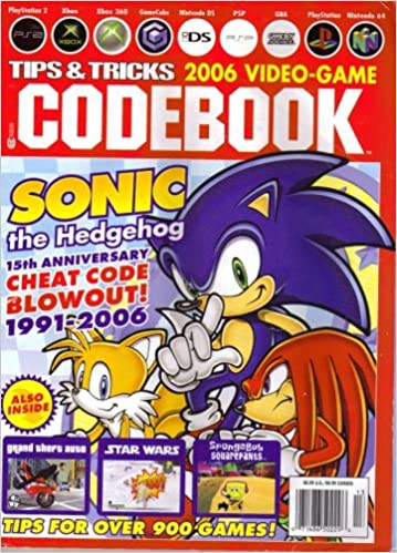Tips Tricks 2006 Video Game Codebook Featuring Sonic The Hedgehog 15th Anniversary Cheat Code Blowout 1991 2006 Chris Bieniek Amazon Com Books