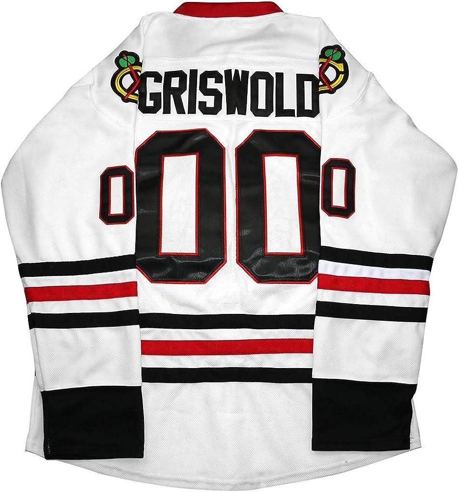 Clark Griswold Jersey,#00 X-Mas Christmas Vacation Movie Hockey Jersey Stitched Men Ice Hockey Jerseys