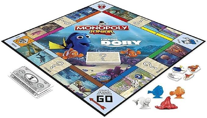 Hasbro B8616 - Monopoly Junior Family Board Game - Disney Pixar - Finding Dory Edition: Amazon.es: Juguetes y juegos