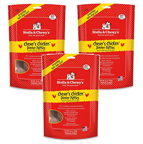 Stella & Chewy's Freeze-Dried Dinner – Chewy's Chicken – 25 oz (Pack of 3)