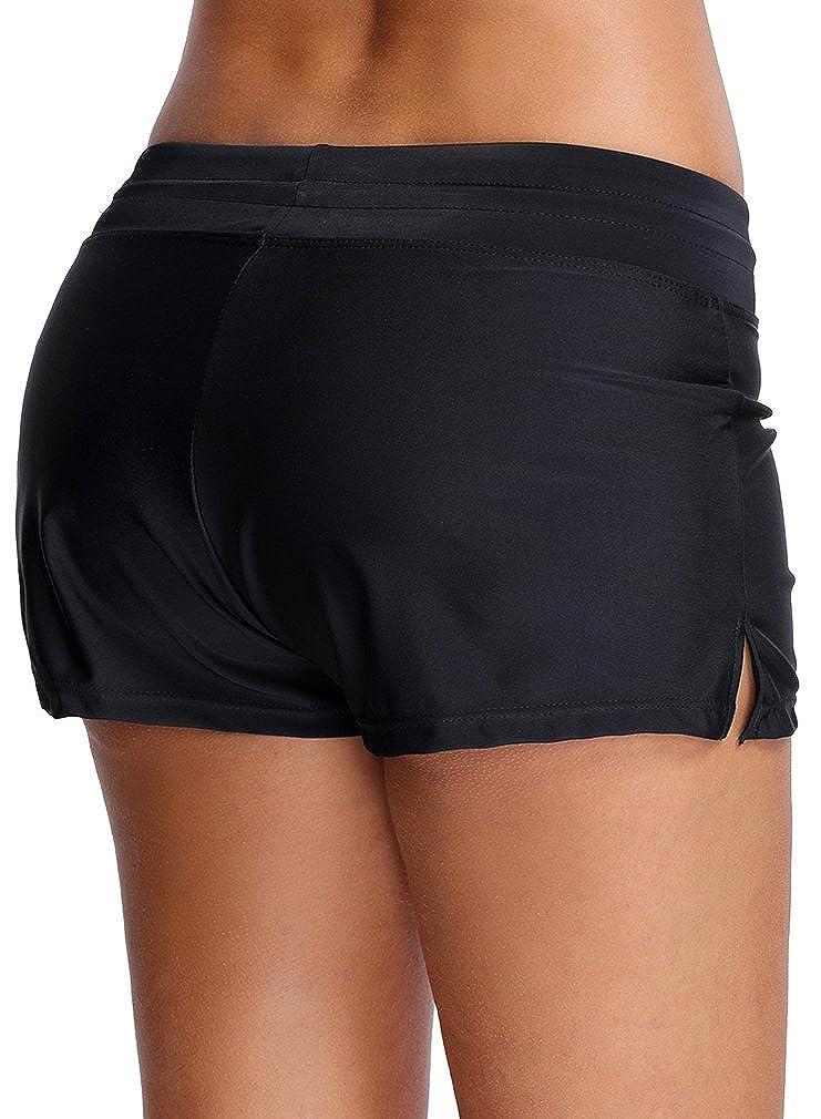 Oliphee Mujer Pantalones De Natacion Shorts Y Bermudas Nadar Shorts Y Bermudas