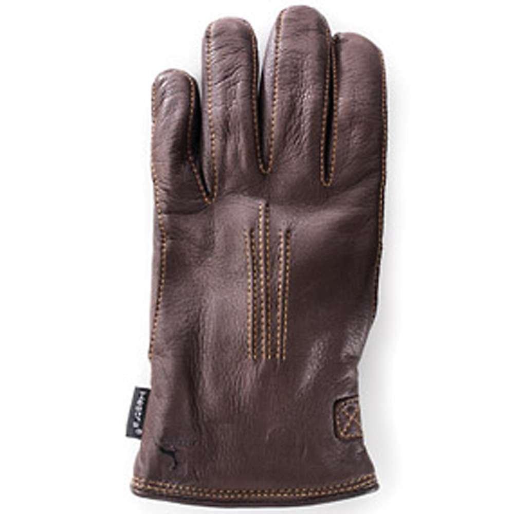 Hestra Deerskin Lambsfur Lined Glove - Men's Dark Brown 10 by Hestra