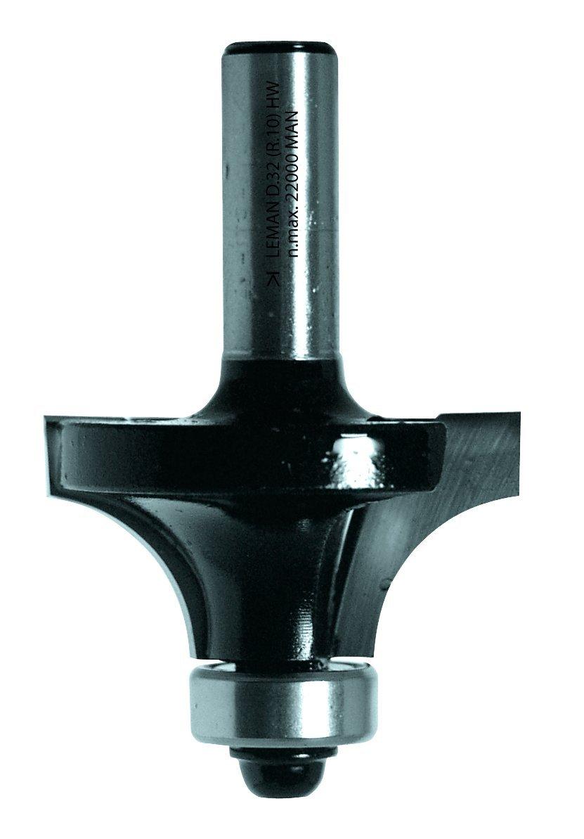 Leman 4258.712.00 Mèche 1/4 rond HM 1 plat ø 38 mm queue de 8 mm avec guide à billes