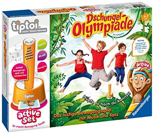 """Ravensburger tiptoi 00849 - active Set """"Dschungel-Olympiade"""" / Spiel von Ravensburger ab 4 Jahren / Freude an Bewegung im Team spielerisch und interaktiv erleben 1"""