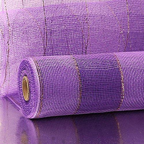 21 X10 Yards Lavender//Purple 2-Clrd Wide Stripe Deco Mesh