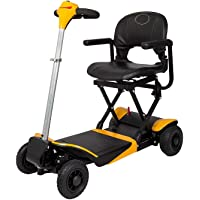 EBEI Portable Scooter - Automatic Foldable Lithium Powered Travel Compact Scooter 4-wheel Heavy Duty Support 300 lbs Only Weight 48 lbs Auto Folded by Key