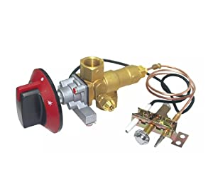 Earth Star 100000BTU LPG/NG Gas Oven Stove Inlet Valve Pilot Burner With 0.9 Meters M10x1 Thermocouple And Ignition Wire Including Knob Whole Sets
