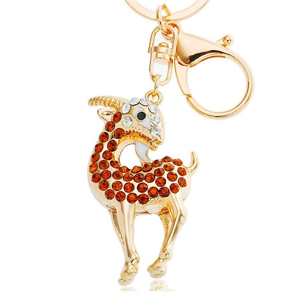 Amazon.com   JewelBeauty Goat Sheep Rhinestone Crystal Keychain Keyring  Purse Charm Pendant Bag Key Chain Gift Handbag Accessories (red)   Office  Products c1f73d1654