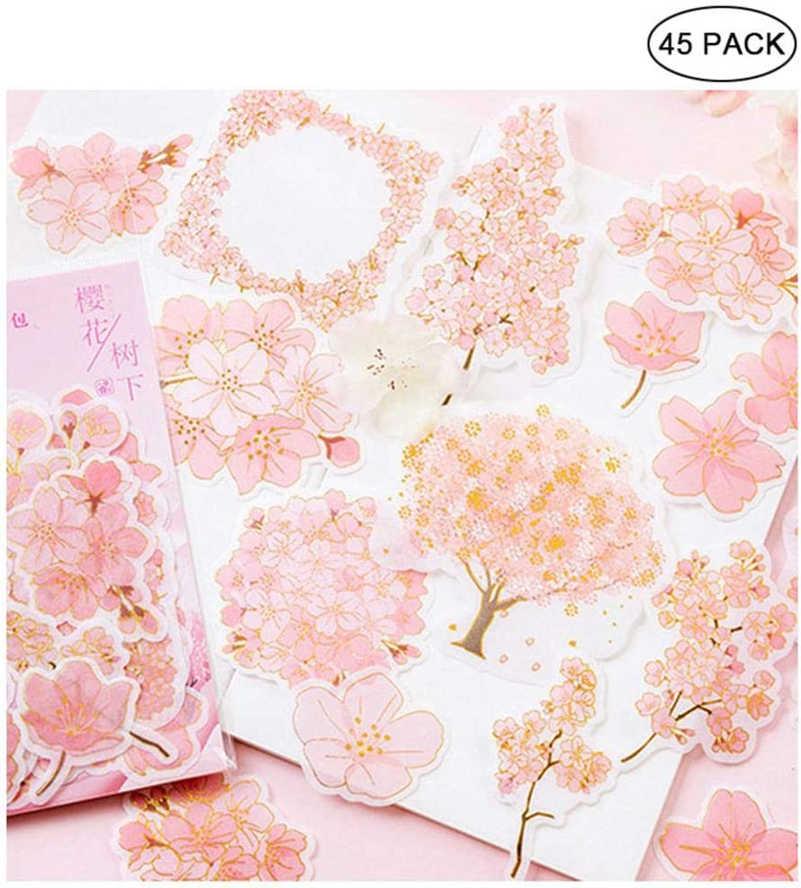 Hamkaw Kawaii Sakura Ephemera Pack (45 Piezas), Romántico Estilo ...