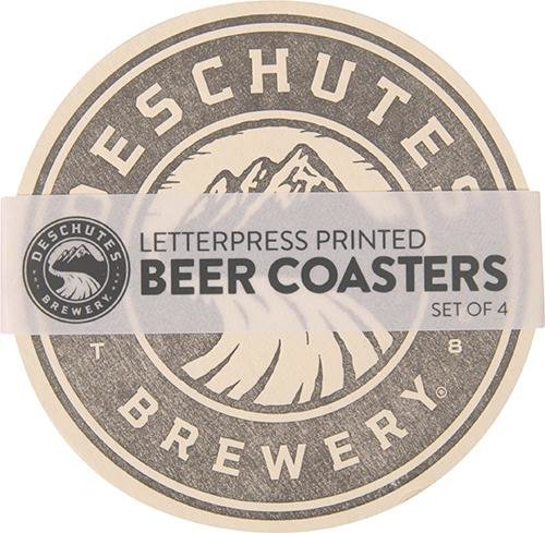 Deschutes Brewery Hand-Printed Coasters - Set of 4