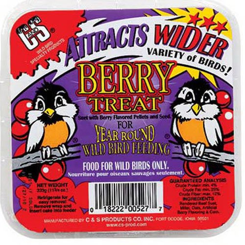 C and S Products CS12527  Berry Treat Suet for Year Round Bird Feeding ()