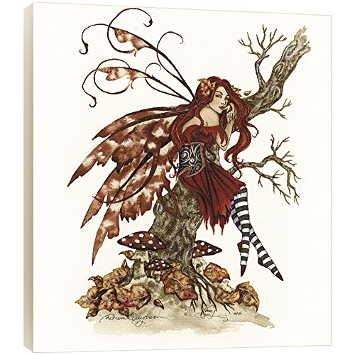 Tree-Free Greetings Autumn Daydream Fairy EcoArt Wall Plaque, 11.2 x 0.5 x 11.2 Inches (AP83537)