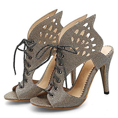 Zapatos Gold Coolcept Alto Tacon Mujer Sandalias Iw1SUv
