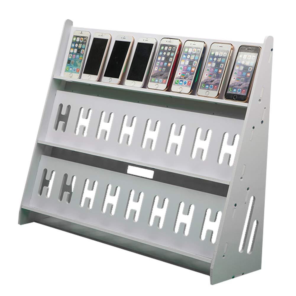 Ozzptuu Multifunctional Three Layer Mobile Phone Stand Holder Display Shelf Studio Game Rack Charging Station Organizer for Multiple Phones (24 Mobile Phones)