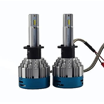 XLEIC 2pcs H1 Coche Bombillas 35W LED Integrado 3800lm 2 LED Luz de Casco For Peugeot