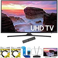 Samsung 74.5-Inch 4K Ultra HD Smart LED TV 2017 Model (UN75MU6300) with 2x 6ft High Speed HDMI Cable, Screen Cleaner for LED TVs, RCA Durable HDTV & FM Antenna & Samsung 65 Ultra HD Smart LED TV