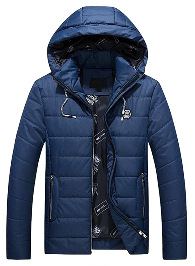 Navy bluee Oberora-Men Ultra Lightweight Packable Hoodie Hoodie Hoodie Down Coat Puffer Jacket Outerwear 561073