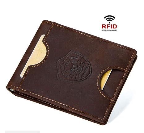 ZYLL RFID Blocking Monedero De Cuero Genuino De Los Hombres ...