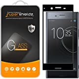 Supershieldz for Sony Xperia XZ Premium Tempered Glass Screen Protector, Anti-Scratch, Bubble Free, Lifetime Replacement Warranty  (Black)