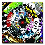 beatles art framed - SEVEN WALL ARTS- Modern Art Paintings Classic Music Record Collections Poster Print Decorative Giclee Print on Canvas Ready to Hang (24 x 24 Inch, The Beatles)