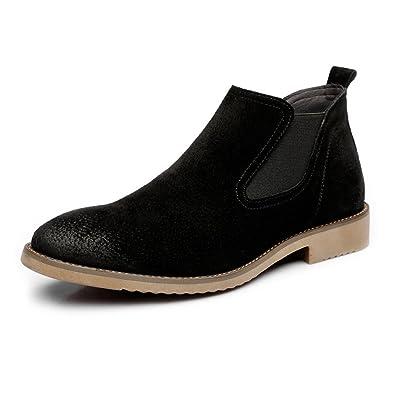 Easy Go Shopping Lederschuhe Herren Slip-on Lederschuhe Dual Flexible Plate Echtes Leder Low Top Sohle Stiefel