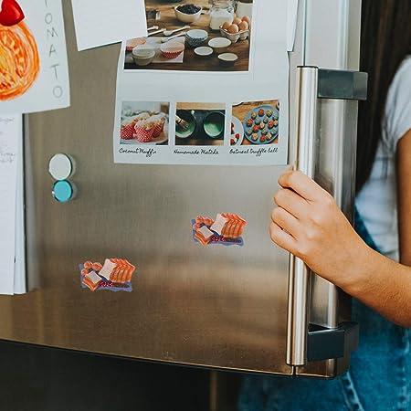 BESTonZON 2 Piezas Simulación Pan de jamón Mini refrigerador de ...