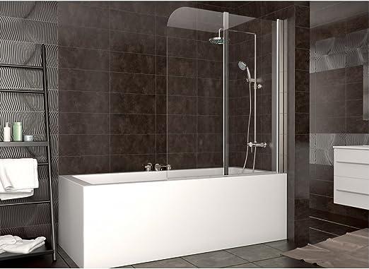 cerramiento bañera ducha cristal plegable mampara tabique dercha ...