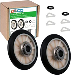DIKOO 2 Pack 349241T Dryer Drum Roller for Whirlpool Maytag Roper Dryers Replaces 3436, 3397590, AP3098345, 349241, 3397588, 337089, 340352