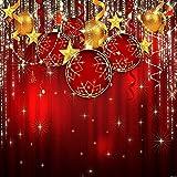 Shiny Christmas Balls 10' x 10' Digital Printed Photography Backdrop KA Series Background KA021