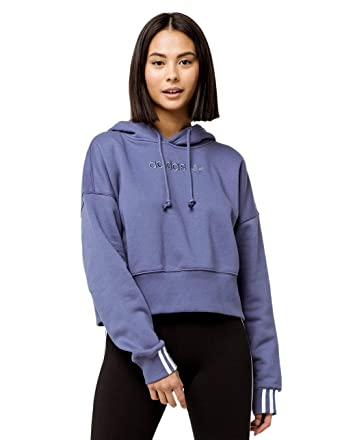 26ba1cd5 adidas Coeeze Raw Indigo Crop Hoodie at Amazon Women's Clothing store: