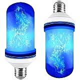 XCSOURCE E27 Base LED Blue Flame Effect Light Bulb 3 Modes Simulated Fire Burning Flickering Decorative Lamp 5W AC85-265V LD1712