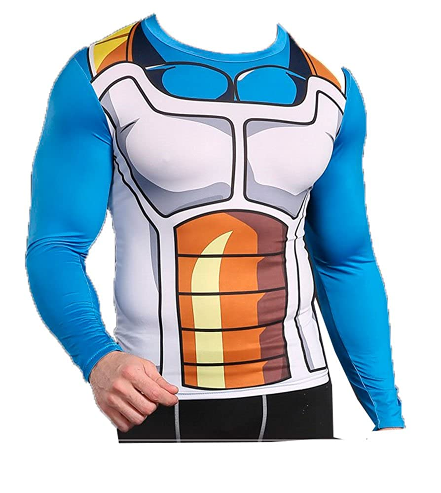 Rash Guard Compression Shirt PIDAK Maglia Manica Lunga COMBATTENTE New Principe Cosplay Shop