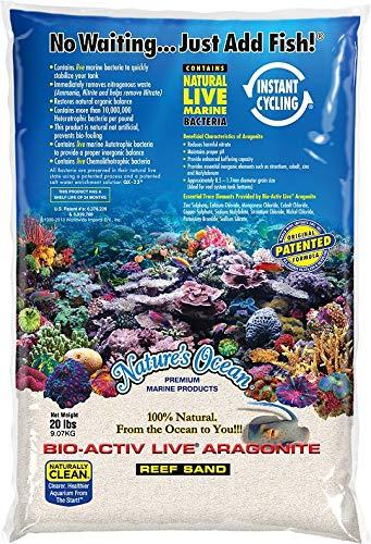 Nature's Ocean Bio-Activ Live Aragonite Reef Sand, 20 Lbs.