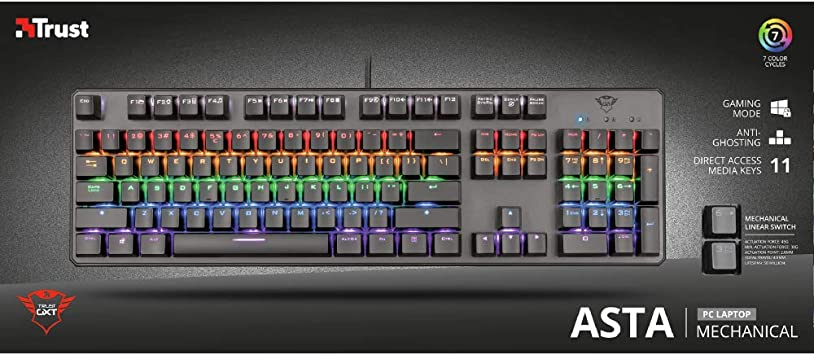 Trust Gaming GXT 865 ASTA Teclado mecánico (22630): Amazon.es ...