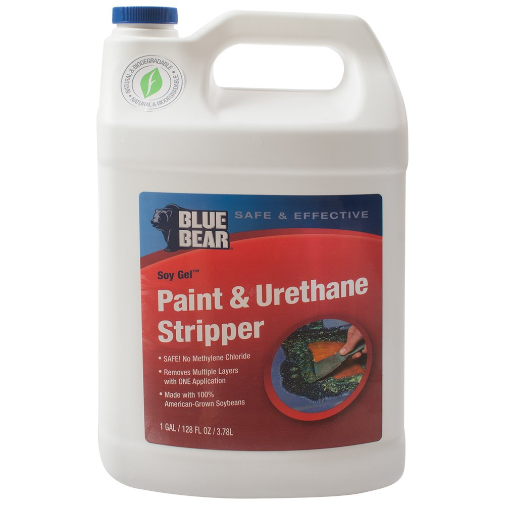 SoyGel Paint and Urethane Remover Stripper 1 Gallon Blue Bear