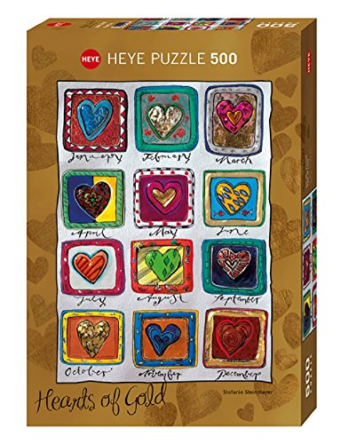 Heye Year of Love 500 Piece Hearts of Gold Jigsaw Puzzle