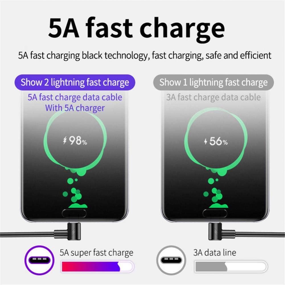 TOUSHI C/âble du Chargeur 5A Supercharge C/âble USB Type C pour Huawei P20 P30 Pro Charge Rapide 4.0 3.0 Charge Rapide Type C C/âble pour Samsung S9 S10 USB C