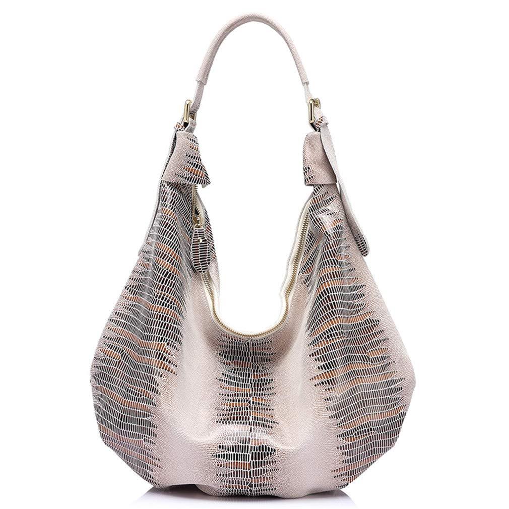 Handbag Leather Bag Animal Pattern Hobo Bags Tote Bag Beige