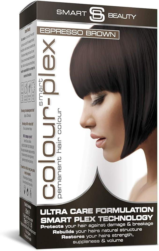 Smart Beauty Tinte de Pelo Permanente, Larga Duración Moda Color con Nutritivo Nio-Active Plex Tratamiento Capilar, 150ML - Expreso Marrón, 150 ...