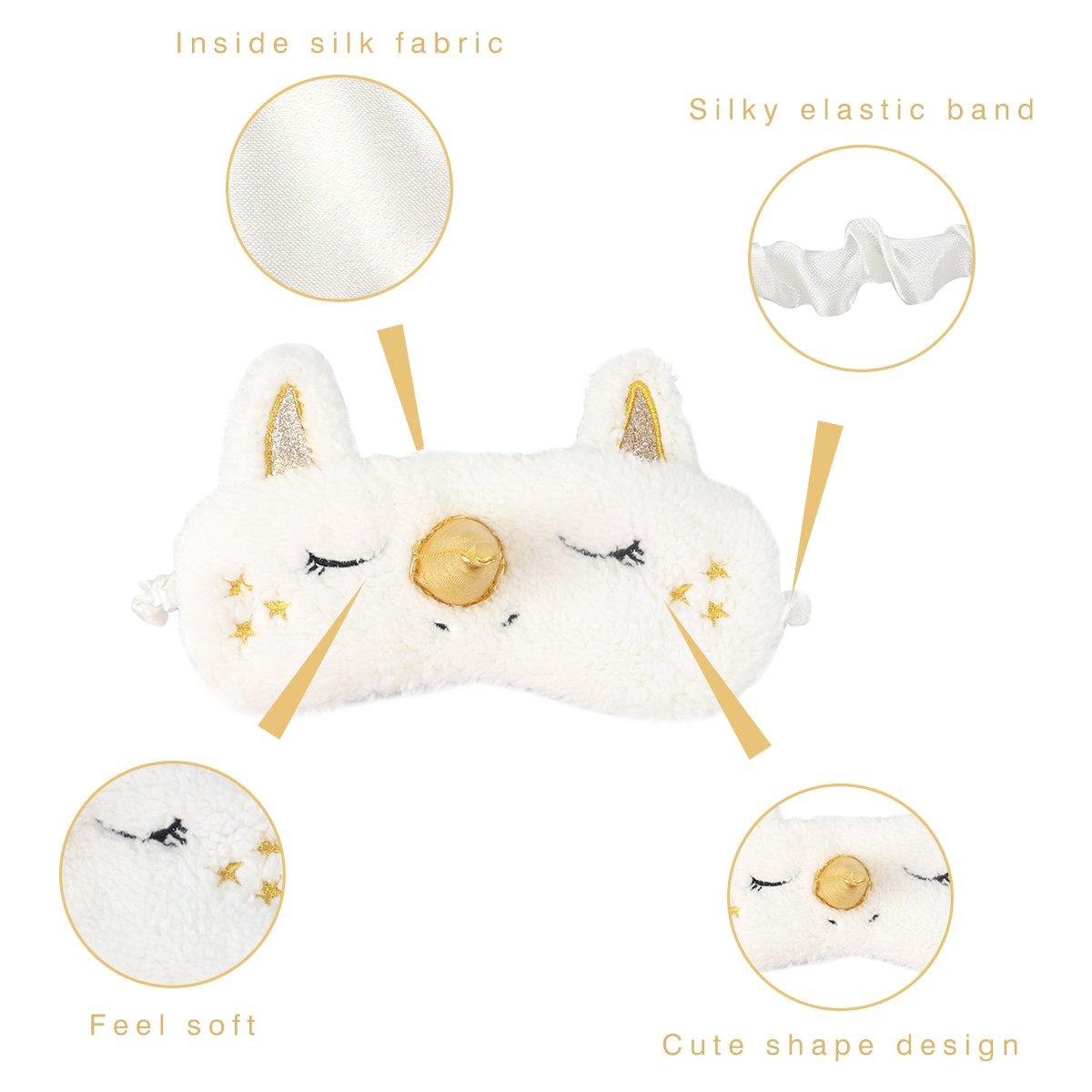 Unicorn 3D sleeping Eye Mask Blindfold plush Cute Eye Cover For Women & Girls