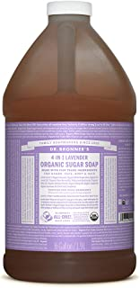 product image for Dr. Bronner's - Organic Sugar Soap (Lavender, 64 Ounce) - Made with Organic Oils, Sugar and Shikakai Powder, 4-in-1 Uses: Hands, Body, Face and Hair, Cleanses, Moisturizes and Nourishes, Vegan