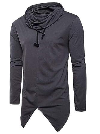 Jersey para Hombre Hip Hop Cuello Alto Slim Fit Streetwear Basic ...