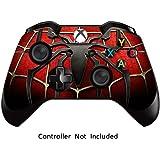 GameXcel ® Xbox Uno Controller della Pelle - Custom Xbox 1 Telecomando del Vinile - Modded Xbox One Accessori Copertura della Decalcomania - Widow Maker Black [Controller non incluso]