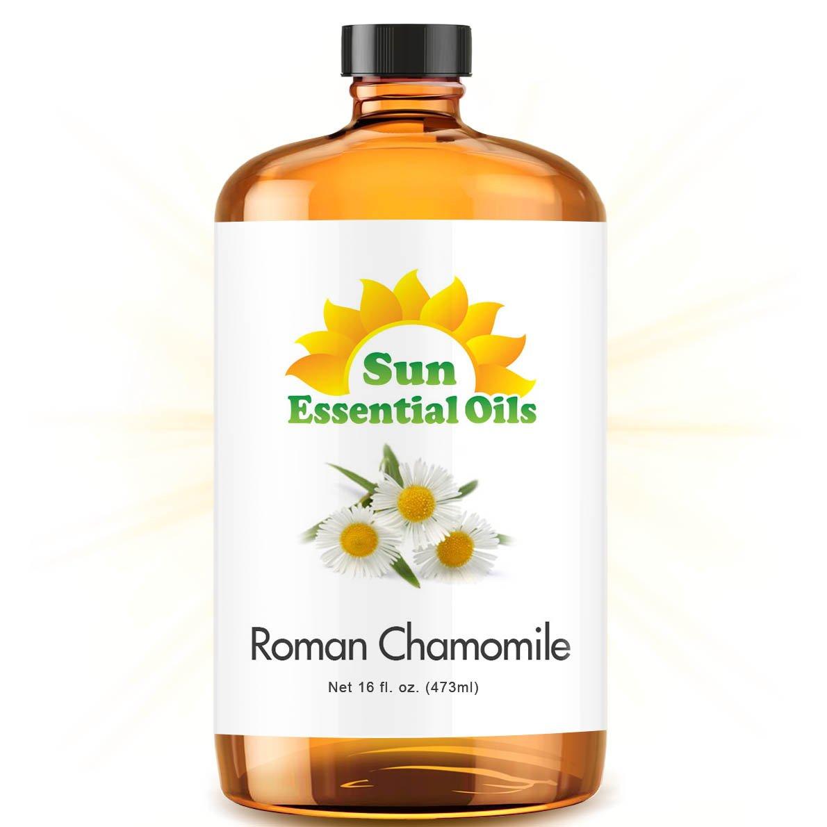 Bulk Chamomile (Roman) Oil - Ultra 16 Ounce - 100% Pure Essential Oil (Best 16 fl oz / 472ml) - Sun Essential by Sun Essential Oils