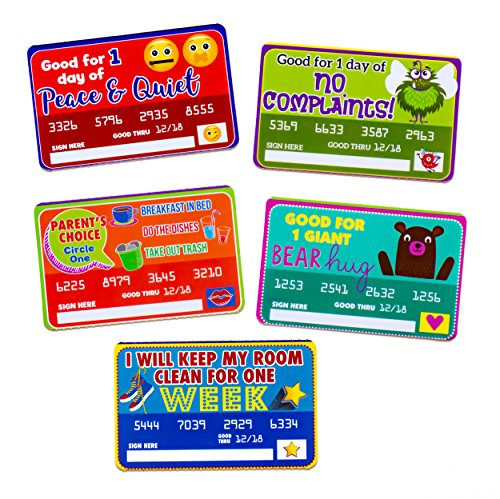 Gift Coupons for Kids to Give to Mom, Dad, Aunts, Uncles, Grandparents - 5 Cute Gift (Maddie Kids Bed)