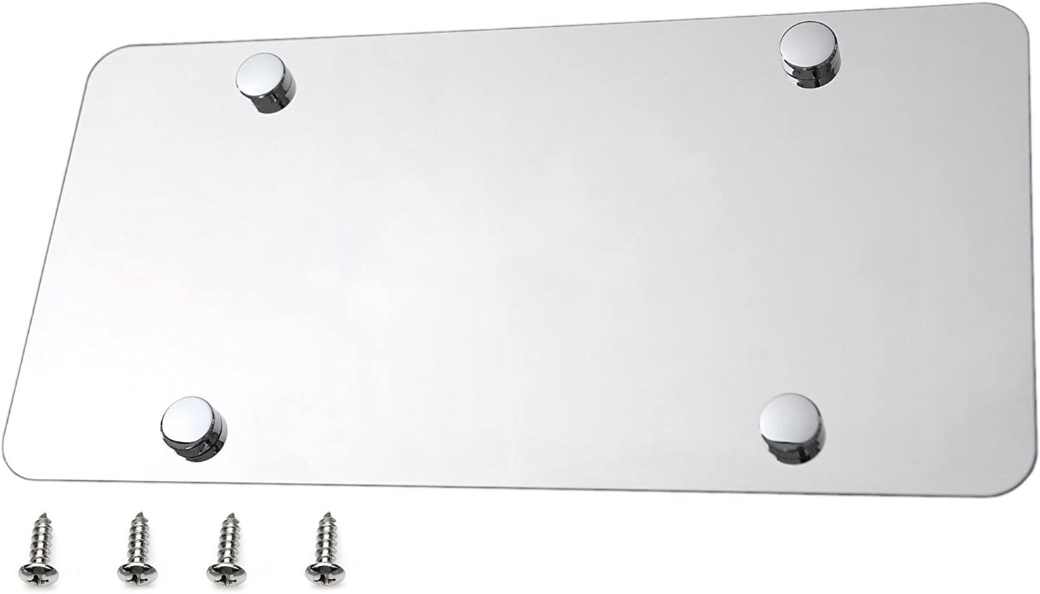 Plain Blank Stainless Steel License Plate Polished Mirror